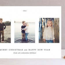 Date Stamp Holiday Photo Cards