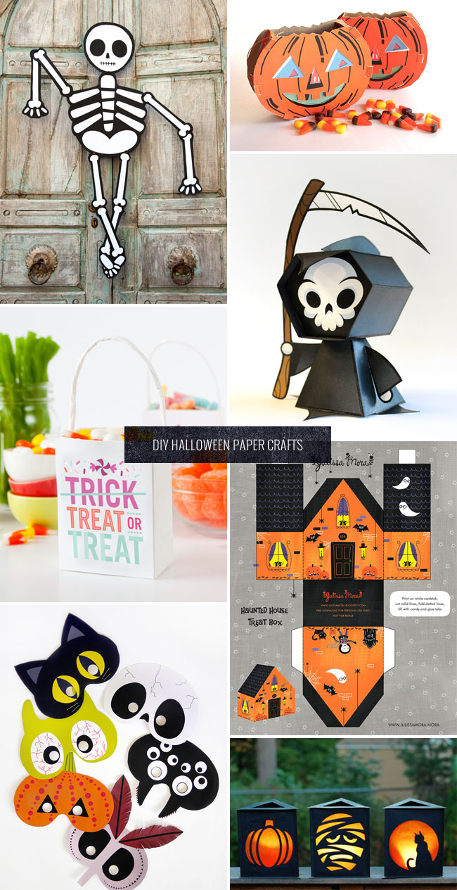 DIY Halloween Paper Decorations + Party Ideas