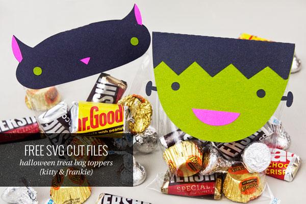 Free Halloween Treat Bag Topper SVG Cut Files