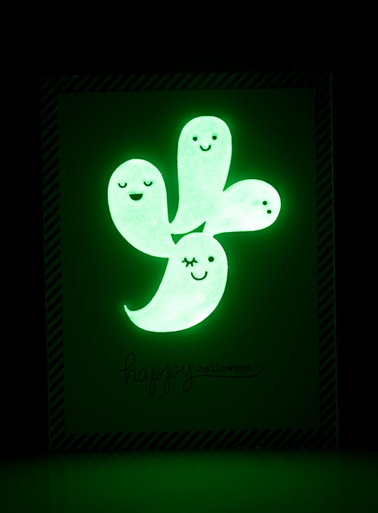 DIY Glow-in-the-Dark Halloween Card | Paper Crave for Craftsy
