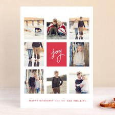 Joie Grid Holiday Photo Cards