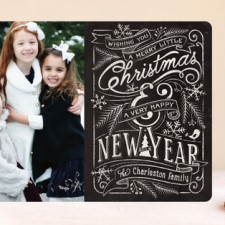 Merry Little Chalkboard Holiday Photo Cards