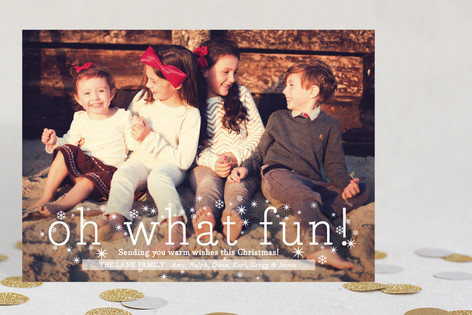oh what fun holiday photo cards