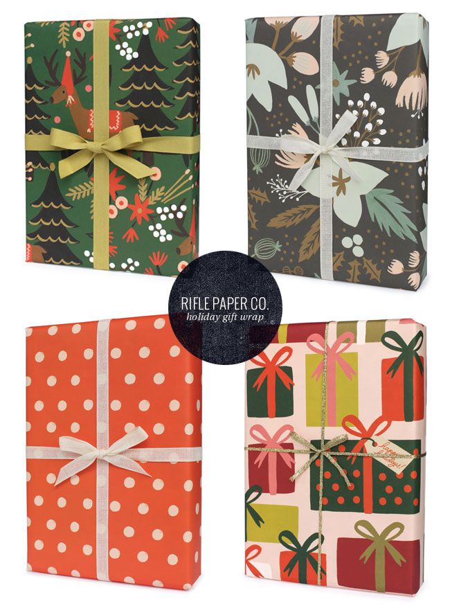 Holiday Patterned Gift Wrap   Rifle Paper Co.