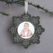 Snowflake Ornament Holiday Photo Cards