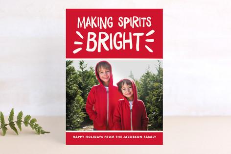 Spirited Holiday Photo Cards