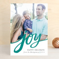Sweeping Joy Holiday Photo Cards