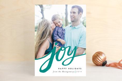 Sweeping Joy Holiday Photo Cards