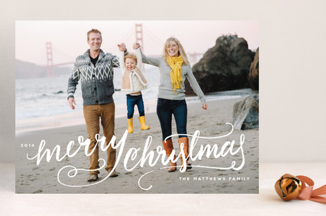 Winter Brush Holiday Photo Cards