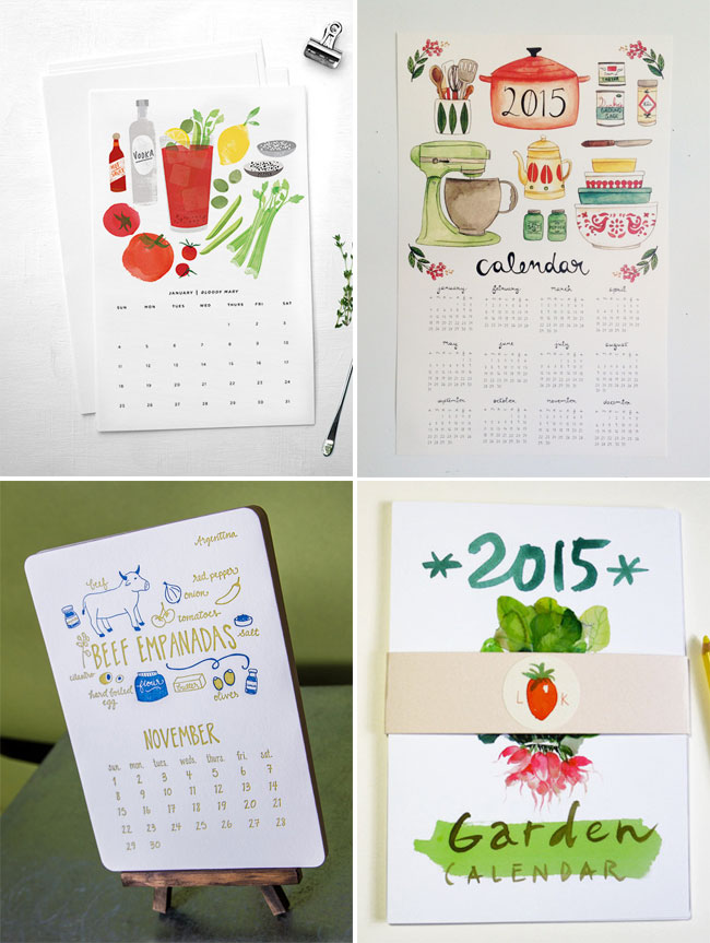 Food & Drink-Themed 2015 Calendars