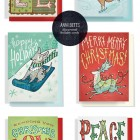 Hand Lettered, Illustrated Christmas Cards | Anni Betts