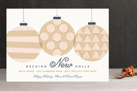 Decking New Halls Non-Photo Holiday Cards