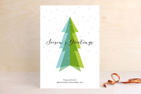 Dimensional Tree business Holiday Cards