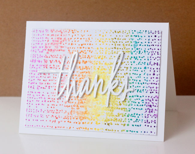DIY Distress Ink Watercolor Thank You Card | Paper Crave for @Craftsy