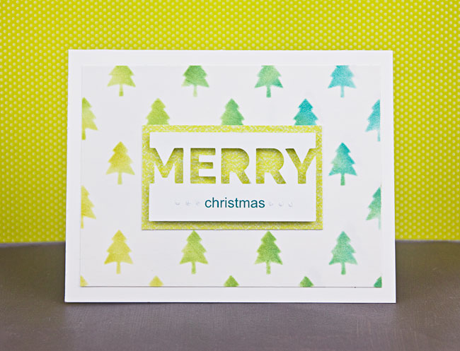 DIY Modern Stenciled Christmas Card Tutorial | Paper Crave