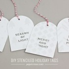 DIY Stenciled & Embossed Holiday Gift Tags | Paper Crave