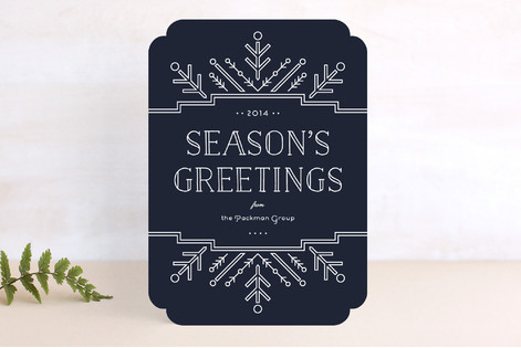 Geo Flake Business Holiday Cards