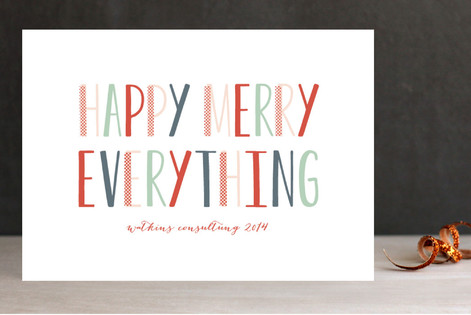 happy merry modern business holiday cards - Modern Holiday Cards