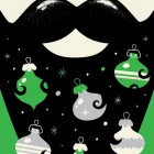 Hairy Merry Holiday Card | Lure Paper Goods