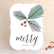 Merry Branches Business Holiday Cards