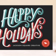 Neon Glow Business Holiday Cards