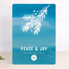 Pine Bough Business Holiday Cards