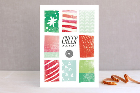 Quirky Patchwork Business Holiday Cards