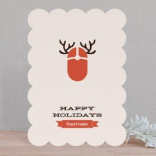 Reindeer Mouse Business Holiday Cards