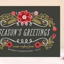 Seasonal Bouquet Business Holiday Cards