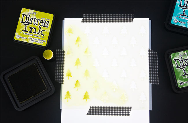 DIY Stenciled Christmas Card, Step 2