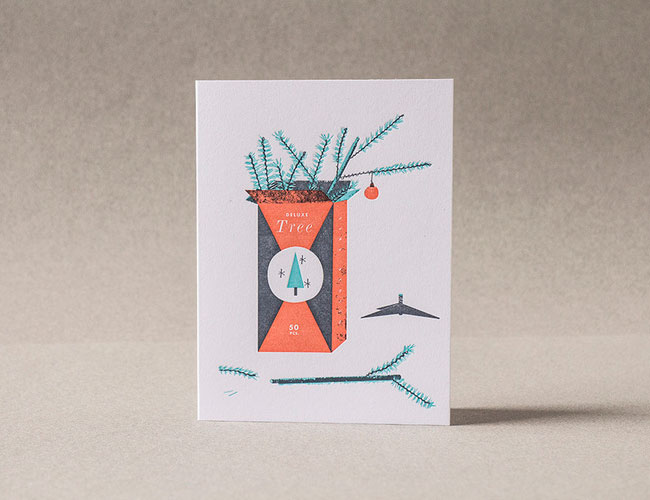 Deluxe Tree Letterpress Card | Tom Froese (Illustration) + Everlovin' Press (Printing)