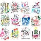 Lindsay Letters 12 Days of Christmas (instant digital download)