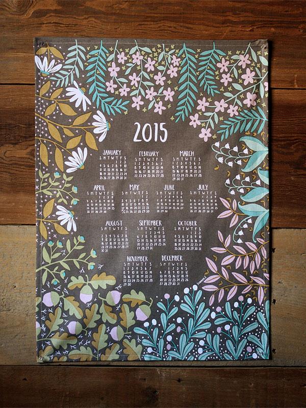 One Canoe Two 2015 Tea Towel Calendar
