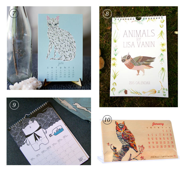 Animal-Themed 2015 Calendars