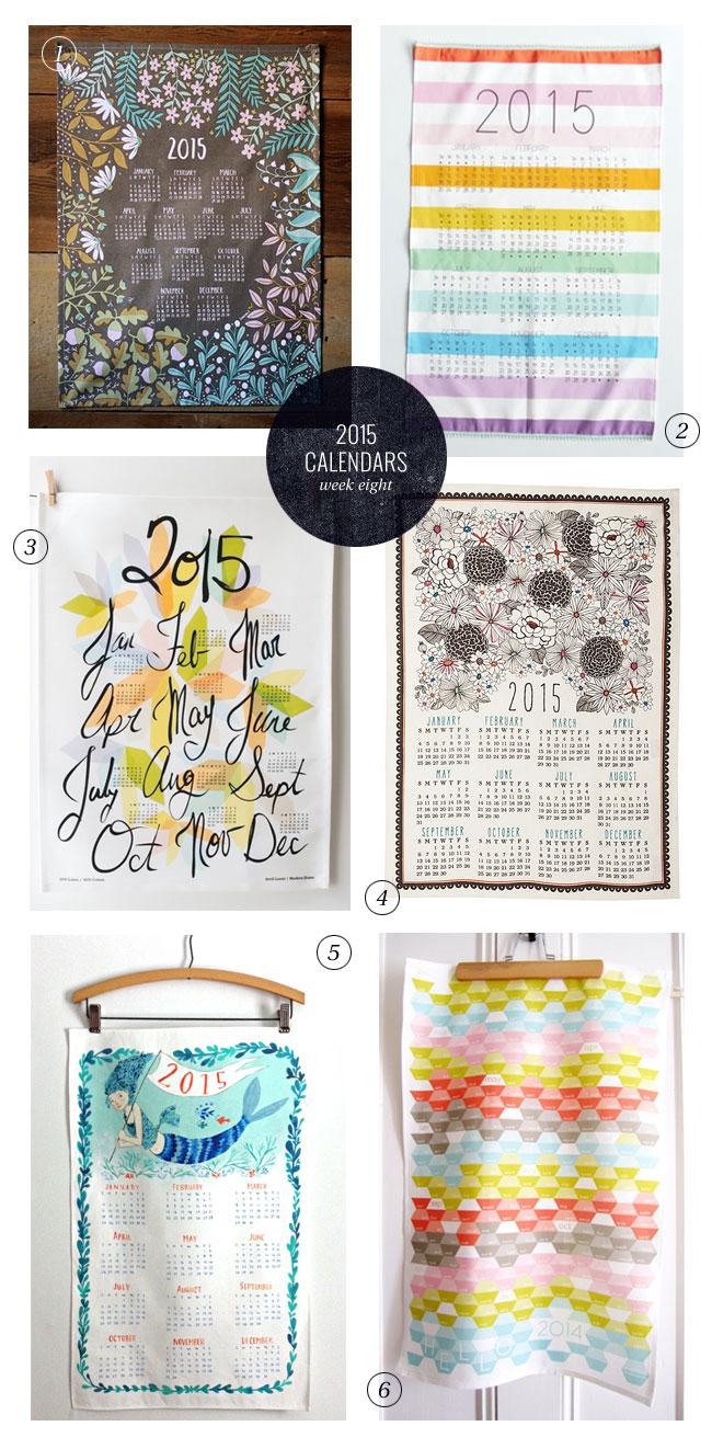 2015 Tea Towel Calendars