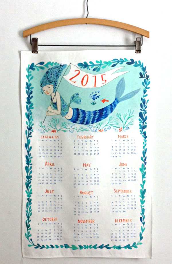 Abigail Halpin 2015 Mermaid Tea Towel Calendar