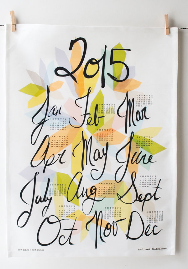 Avril Loreti 2015 Tea Towel Calendar