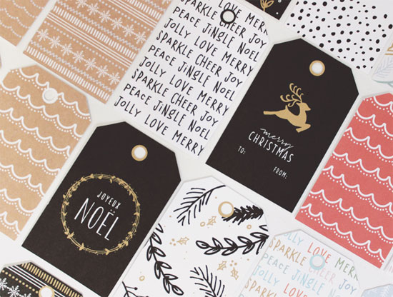 Free Printable Holiday Tags by Creative Index (3 color options available)