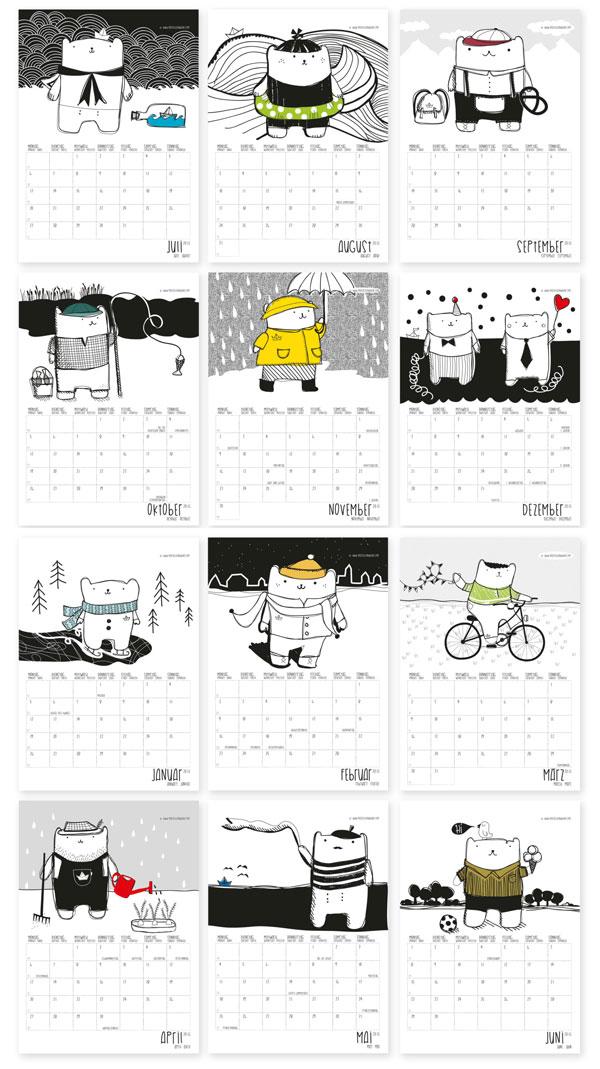Maedchenwahn 2015 Cute Bear Calendar