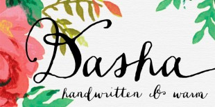 Dasha Script Font by Magpie Paper Works