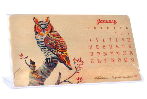 Donal Geiman + Night Owl Paper Goods 2015 Critter Calendar