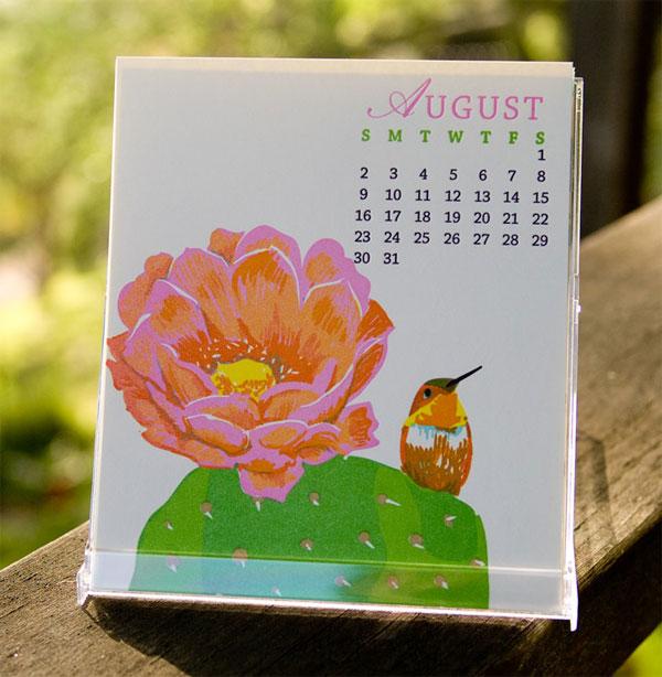 Rigel Stuhmiller Birds & Gardens 2015 Letterpress Calendar
