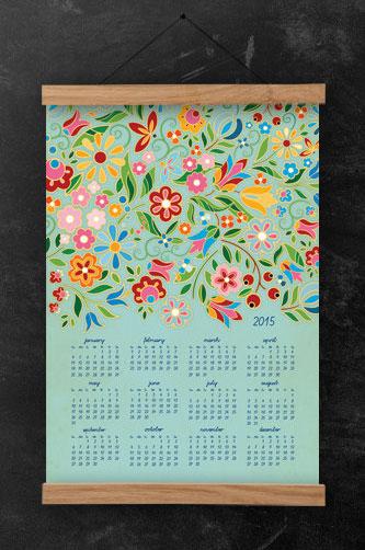 DURIDO 2015 FolkFlora Calendar