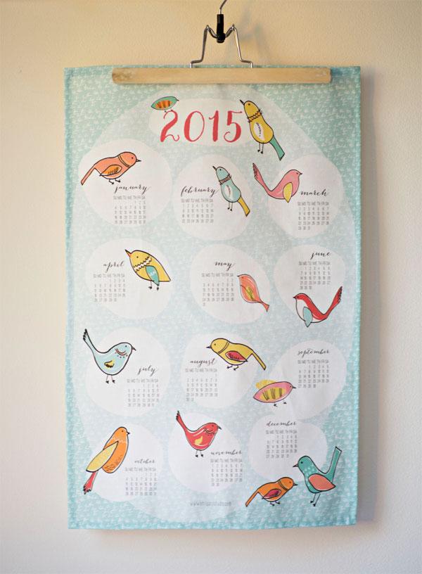 Emily Ann Designs 2015 Bird Tea Towel Calendar