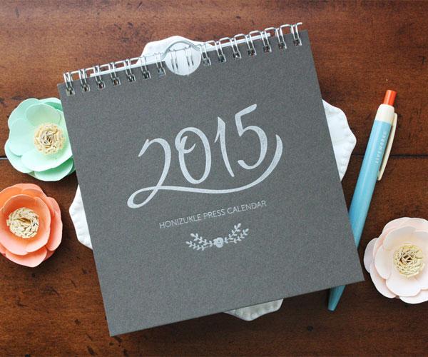 Honizukle Press 2015 Letterpress Calendar