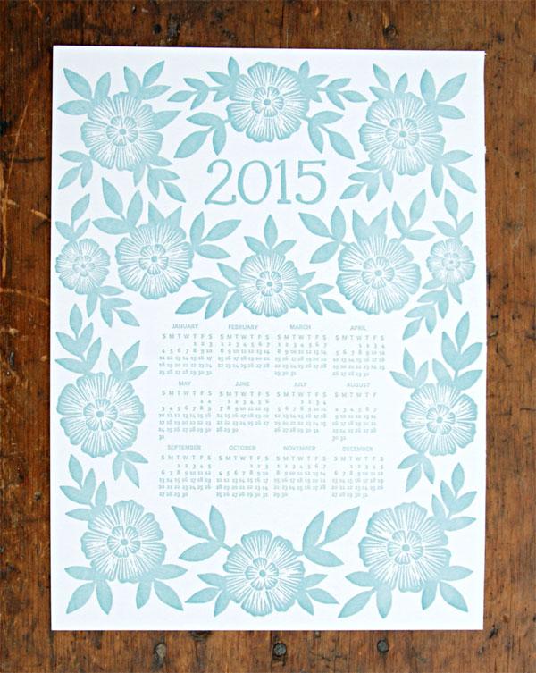 Katharine Watson 2015 Letterpress Calendar