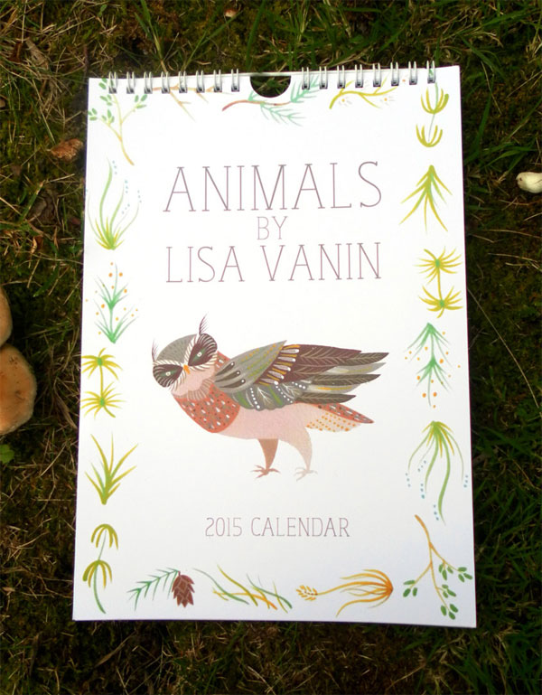 Lisa Vanin 2015 Animals Calendar