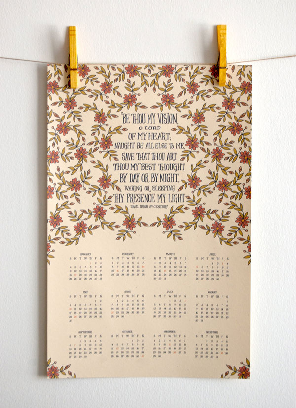 Little Things Studio 2015 Hymn Calendar