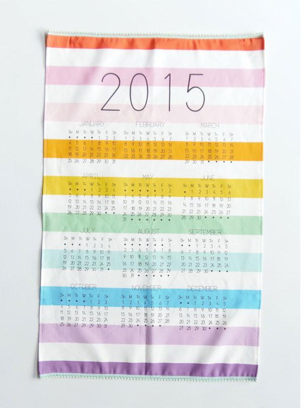 Nicole Porter Design 2015 Tea Towel Calendar