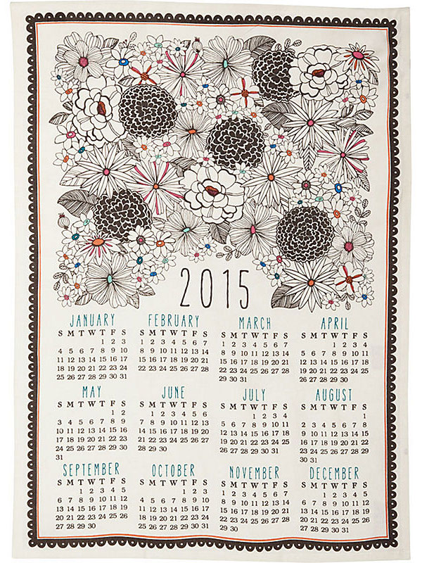 Paper Source 2015 Tea Towel Calendar
